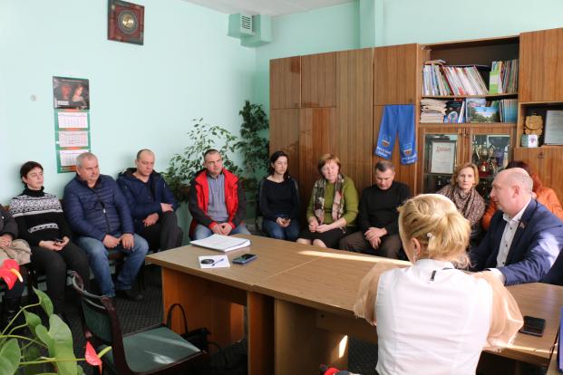 Встреча с работниками ОАО «За мир» по вопросам Всебелорусского народного собрания.