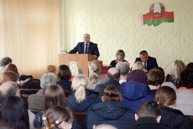 Встреча с работниками ОАО «Брестский аграрий» по вопросам Всебелорусского народного собрания.